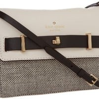 Kate Spade New York Bourbon Street Fabric-Freddie Cross Body,Black/Cumulus,One Size