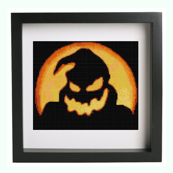 Oogie Boogie Nightmare Before Christmas Halloween Scary Cross Stitch Pattern