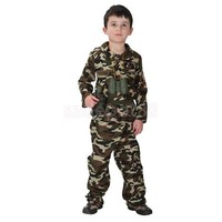 LMFON Kid Boys Army Soldier Costume Uniform Child Party Fancy Dress Outfit Camo