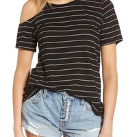 BP. Asymmetrical Cold Shoulder Tee | Nordstrom