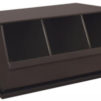 Stackable Storage Cube Espresso Finish