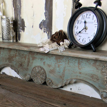 Wall Shelf, Shabby Cottage Wall Shelf, Wood Wall Shelf,Decorative Wall Shelf,Vintage Inspired Shelf,French Country Wall Decor, French Decor