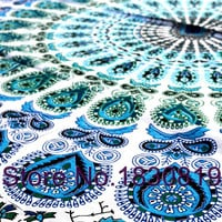 Indian Bohemian Peacock Hippie Wall Hanging Kaleidoscopic Mandala Tapestry Bed sheet (QUEEN Size, 100% Premium Quality).