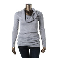 Energie Womens Juniors Metallic Long Sleeves Pullover Sweater
