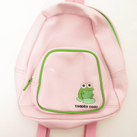 Vintage 1990s Toadily Cool Frog Toad Mini Backpack Purse