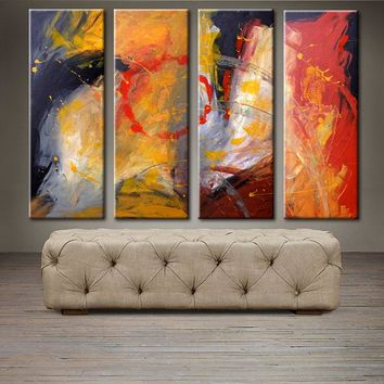 """'April023'- 48"""" X 30"""" Original Abstract  Art. Free-shipping within USA & 30 day return Policy."""