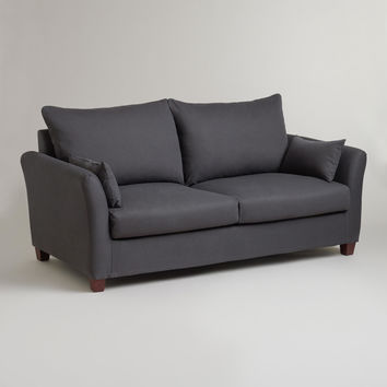 Charcoal Luxe Sofa Slipcover - World Market