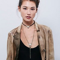Free People Womens Stella High Low Necklace