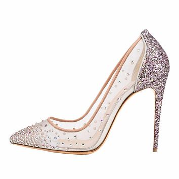 KALI Crystal Mesh Bling Stiletto Heels
