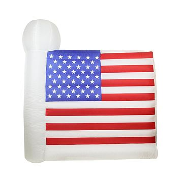 6' Inflatable Lighted Fourth of July American Flag Outdoor Decoration