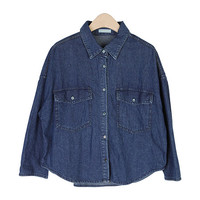 Loose-Fit Denim Shirt With Two Pockets