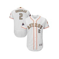 Men's Alex Bregman Houston Astros White 2018 Gold Program Flex Base Authentic Collection Jersey