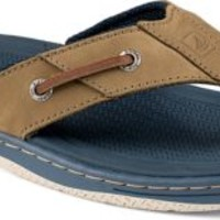 Sperry Top-Sider Baitfish Thong Sandal Gray/Navy, Size 14M  Men's Shoes