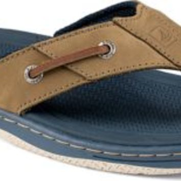 Sperry Top-Sider Baitfish Thong Sandal Gray/Navy, Size 8M  Men's Shoes