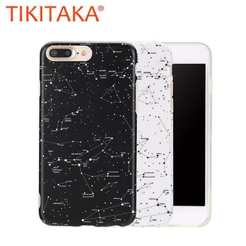 Ultra Thin Soft TPU Starry Sky Case For Apple iphone 7 7 Plus Protector Shell Capa Fashion Constellation Pattern Back Cover Gift