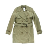 Vince Womens Long Sleeves Double Breasted Trench Coat
