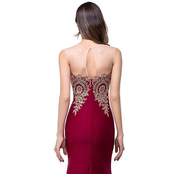 Sexy Backless Appliques Burgundy Mermaid Lace Long Prom Dresses 2017 Royal Blue Black Evening Party Dress Vestido de Festa Longo