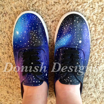 Custom Painted Galaxy Shoes by DonishDesigns on Etsy