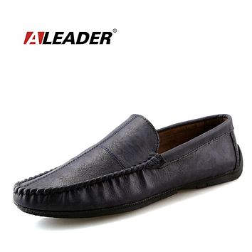 Men Leather Loafers Fashion Slip On Mens Shoes Casual Driving For Men Penny Loafers Comfort loafer shoes