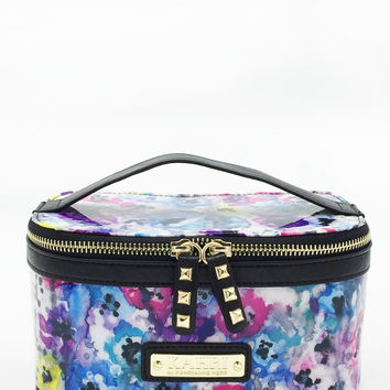 Pastel Flowers Small Train Case