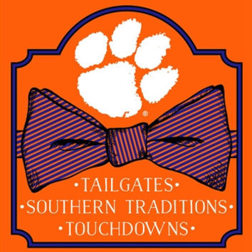 Southern Couture South Carolina Clemson Tigers Classic Preppy Bow T-Shirt