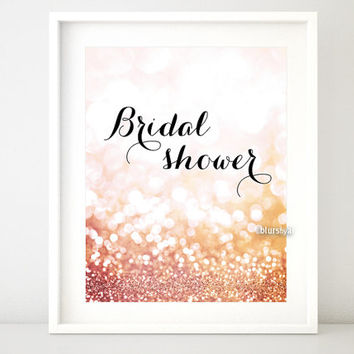 Bridal shower & Welcome - Bridal Shower printable signs. Rose gold party decor, gold welcome sign, party welcome sign diy - gp163 Olivia