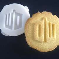 Dr WHO inspired logo COOKIE STAMP recipe and instructions - make your own Doctor Who inspired cookies