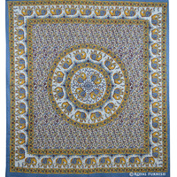 Multicolor Indian Elephant Mandala Hippie Tapestry Wall Hanging