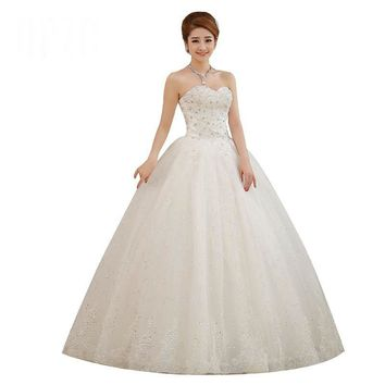 Spring and Summer Style Bride Wedding Dress Strap Lace Princess Romantic Wedding