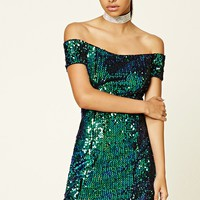 Iridescent Sequin Mini Dress