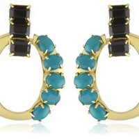 "kate spade new york ""Chain Of Command "" Door Knocker Earrings"