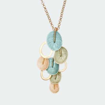 Eclectic Petal Necklace – Turquoise - Free Shipping