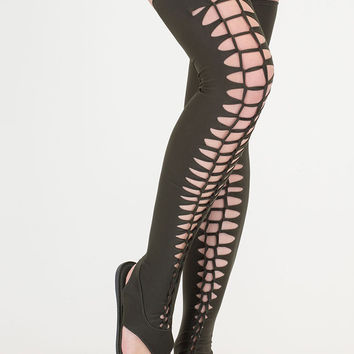 Fashion Elite Woven Thigh-High Sandals GoJane.com