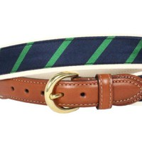 Stowe Belt Navy Green