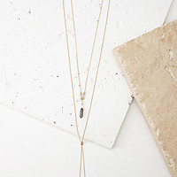 Faux Stone and Tassel Necklace Set