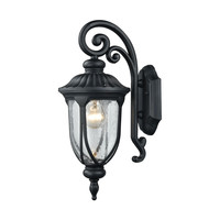87100/1 Derry Hill 1 Light Outdoor Wall Sconce In Matte Black - Free Shipping!