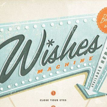 Wishes Machine 13x19 Pep Art Collection by evajuliet on Etsy
