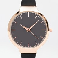 New Look Oversize Clean Watch with Silicon Strap