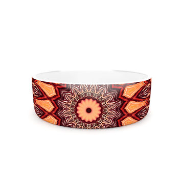 "Iris Lehnhardt ""Colors of Africa"" Brown Orange Pet Bowl"