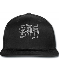 mommy daddy chappie dark t shirt Snapback