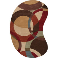 Hand-tufted Contemporary Multi Colored Circles Wool Geometric Area Rug