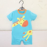 Summer Baby Boy Clothes Cotton Cartoon Animal Baby Romper Giraffe Clothing For Newborns Infantil Overall Baby Boy Clothing