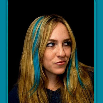 2 Clip in Hair Extensions Teal blue hair by Puppycatmeow on Etsy