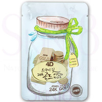 Foodaholic 4D Skinny Fit 24KGold Essence Mask *exp.date 12/2017*