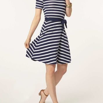 Stripe cold shoulder dress - Dorothy Perkins