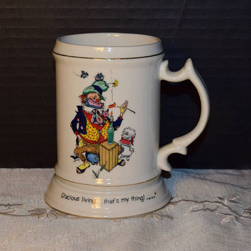 Happy Hoboes Mug Vintage Hobo Stein Gracious Living That's My Thing Hobo & Dog Tankard World Wide Arts Made in Japan Collectible Mug