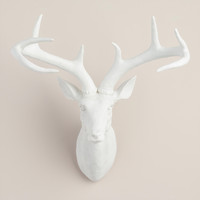 Matte White Stag Head Sculpture - World Market