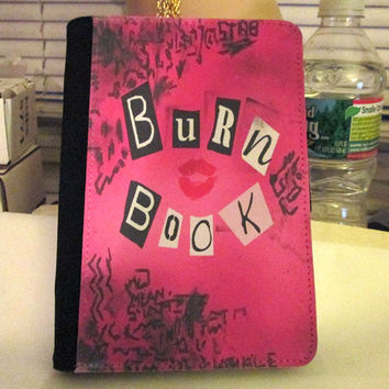 Mean girls Inspired Burn Book - regina george - journal book notebook wallet holder