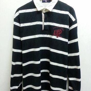 Vintage 1990 Polo Sports Ralph Lauren Rugby Longsleeve Polo Tshirts