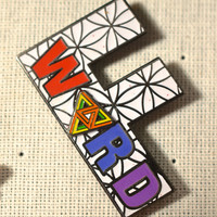 F Word  STS9 Spinner Hat Pin